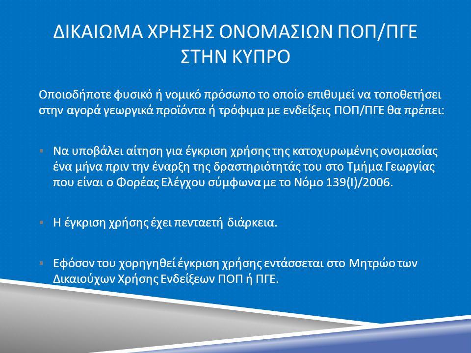 Δικαιωμα ΧΡΗΣΗΣ ΟΝΟΜΑΣΙΩΝ ποπ/πγε Στην κυπρο