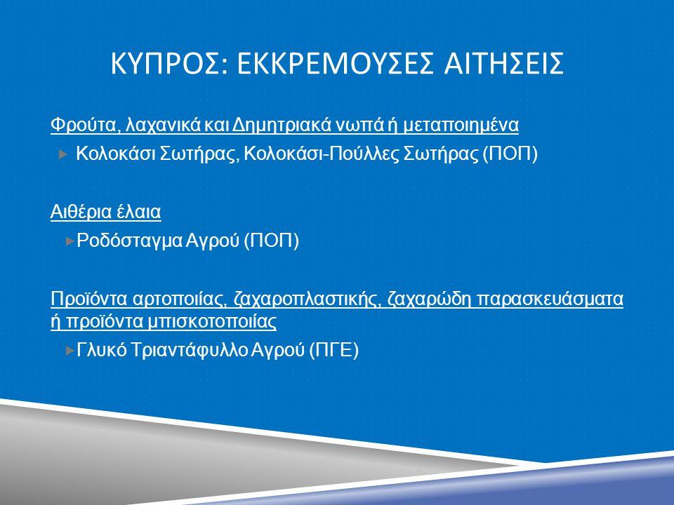 ΚυπροΣ: ΕκκρεμουΣεΣ αιτηΣειΣ