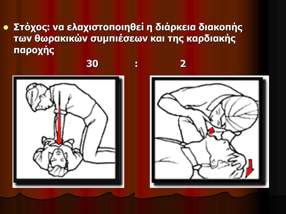 Στόχος: να ελαχιστοποιηθεί η διάρκεια διακοπής των θωρακικών συμπιέσεων και της καρδιακής παροχής