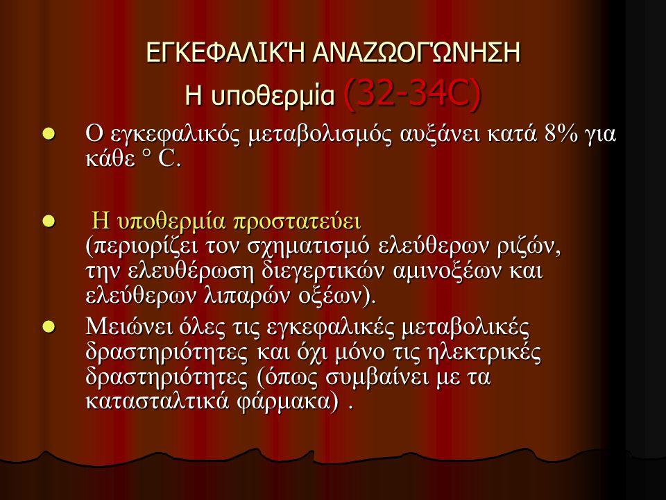 ΕΓΚΕΦΑΛΙΚΉ ΑΝΑΖΩΟΓΏΝΗΣΗ Η υποθερμία (32-34C)