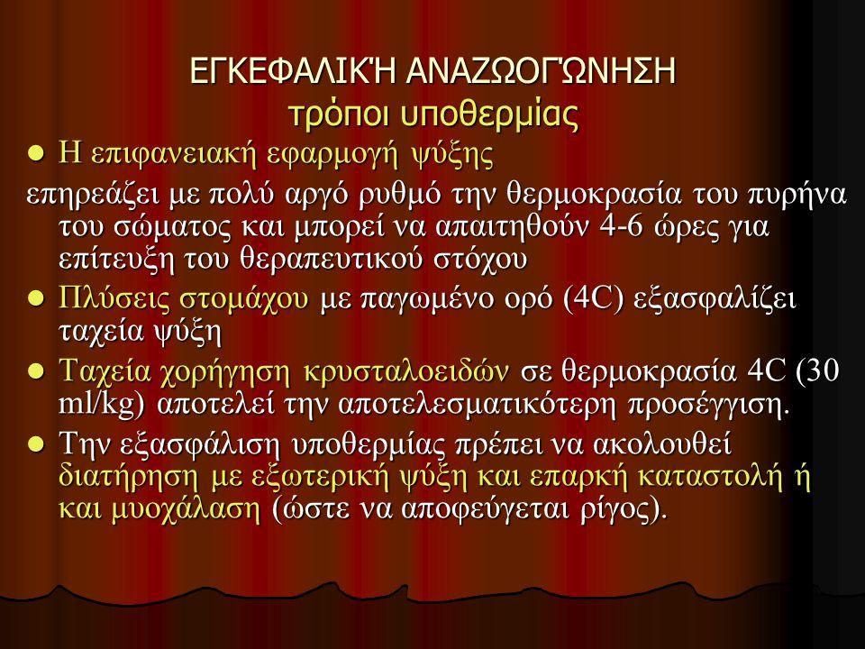 ΕΓΚΕΦΑΛΙΚΉ ΑΝΑΖΩΟΓΏΝΗΣΗ τρόποι υποθερμίας