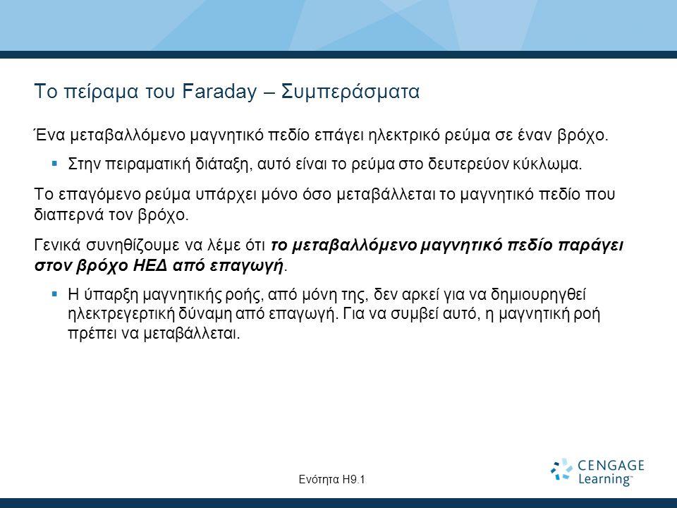 Το πείραμα του Faraday – Συμπεράσματα