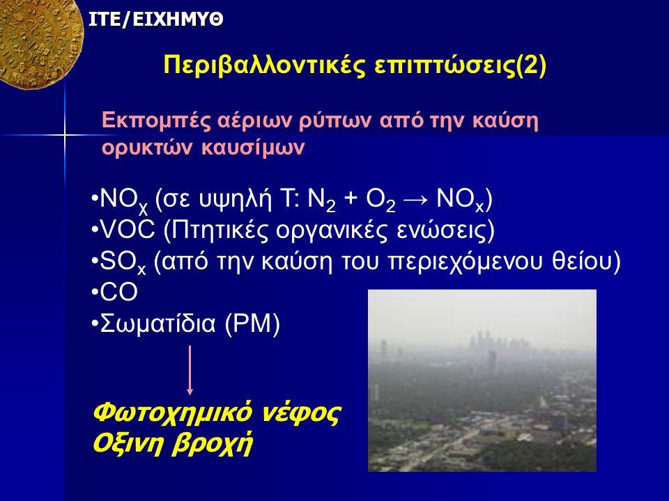 Περιβαλλοντικές επιπτώσεις(2)
