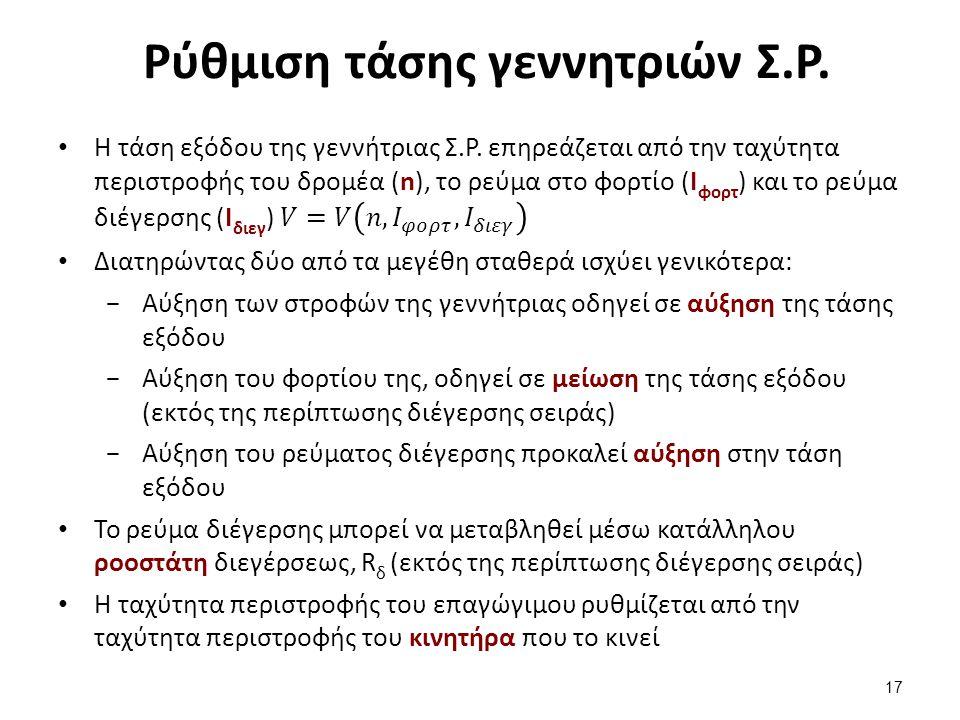 Παραλληλισμός γεννητριών Σ.Ρ. (1/2)