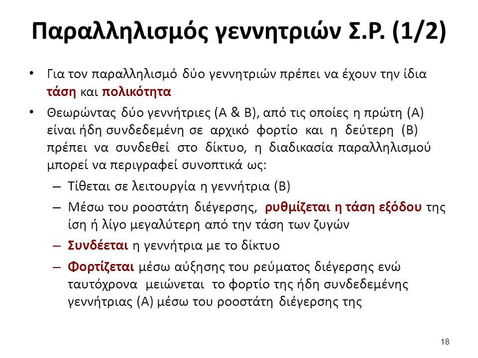Παραλληλισμός γεννητριών Σ.Ρ. (2/2)