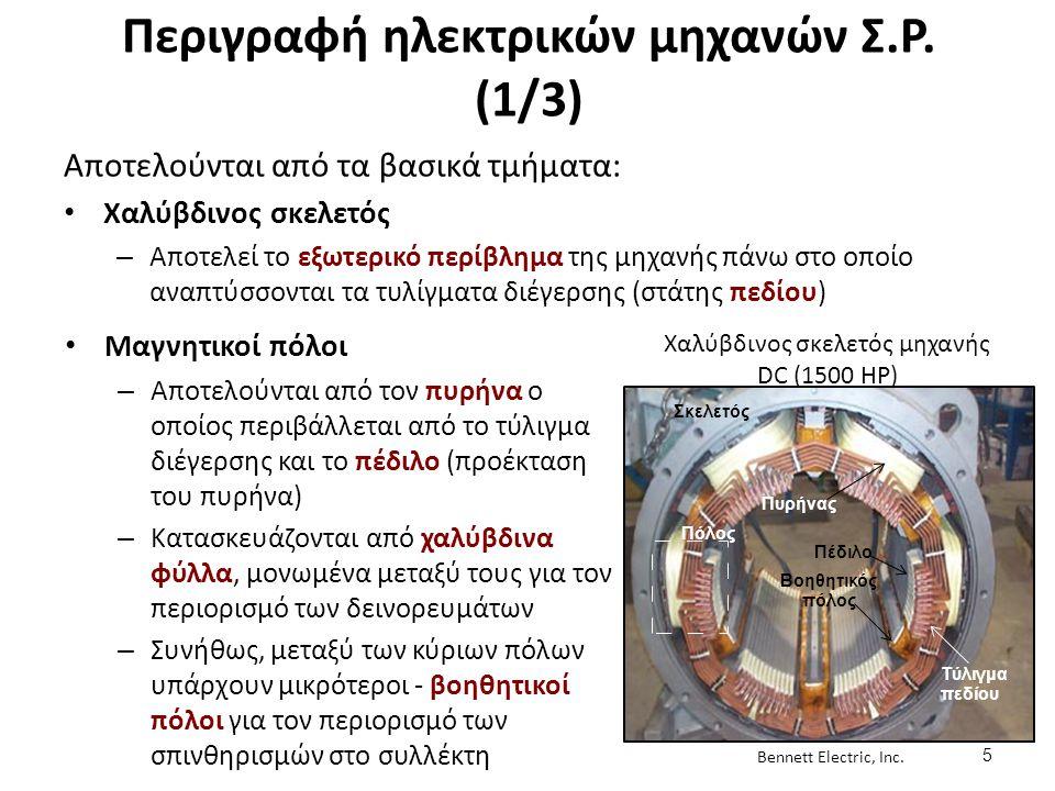 Περιγραφή ηλεκτρικών μηχανών Σ.Ρ. (2/3)