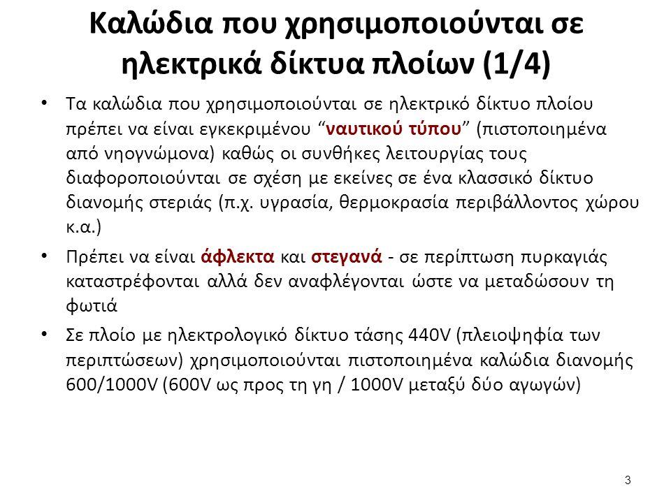 Καλώδια που χρησιμοποιούνται σε ηλεκτρικά δίκτυα πλοίων (2/4)
