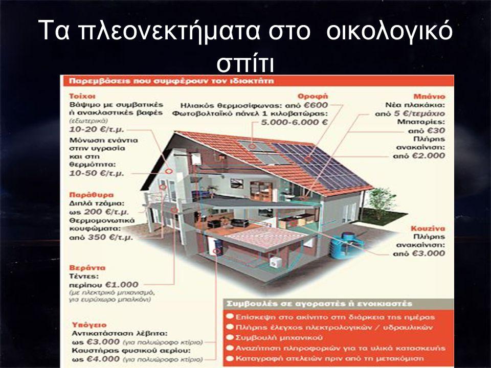 Τα πλεονεκτήματα στο οικολογικό σπίτι