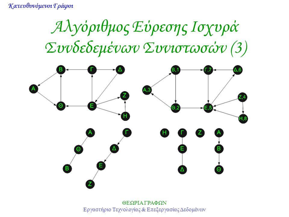 Αλγόριθμος Εύρεσης Ισχυρά Συνδεδεμένων Συνιστωσών (3)