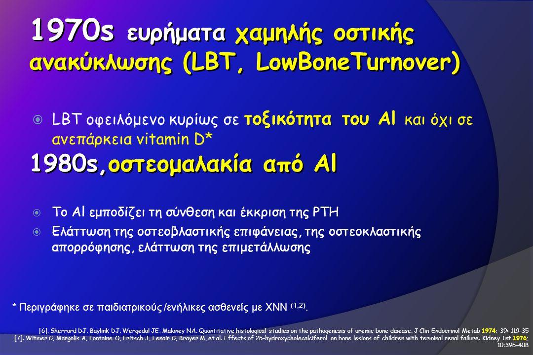 1970s ευρήματα χαμηλής οστικής ανακύκλωσης (LBT, LowBoneTurnover)