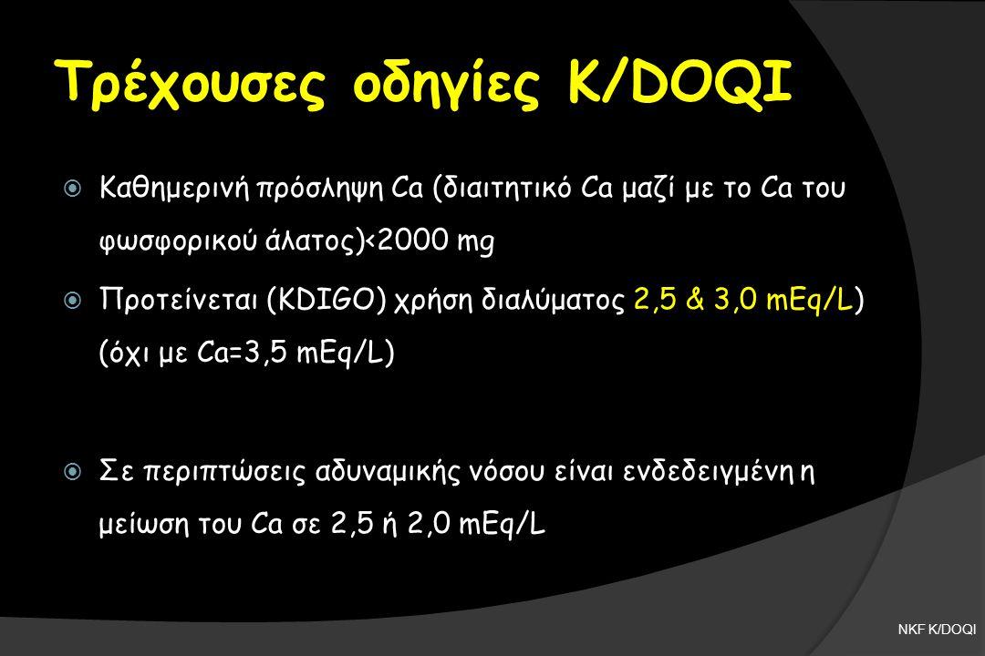 Τρέχουσες οδηγίες K/DOQI