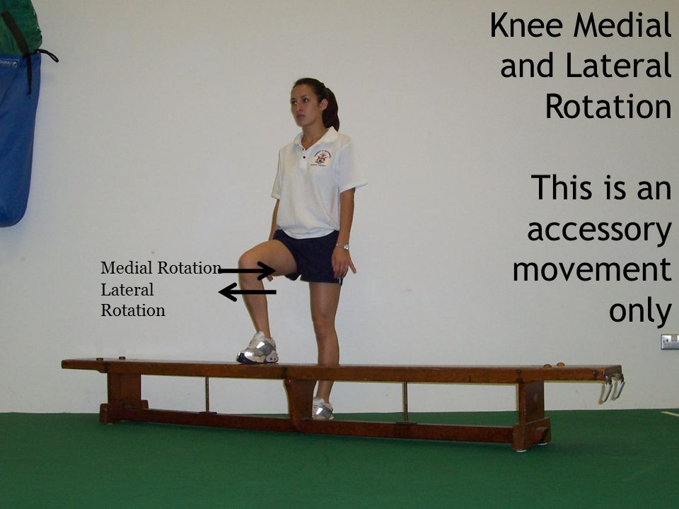 Knee Medial and Lateral Rotation This is an accessory movement only