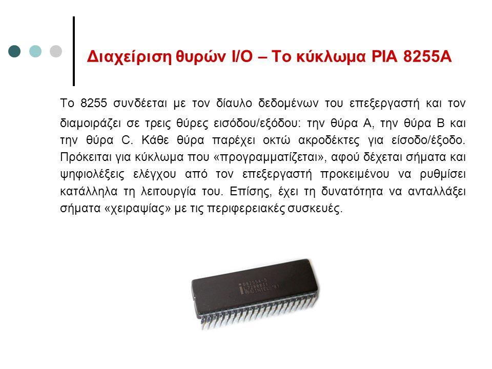 Διαχείριση θυρών Ι/Ο – Το κύκλωμα PIA 8255Α