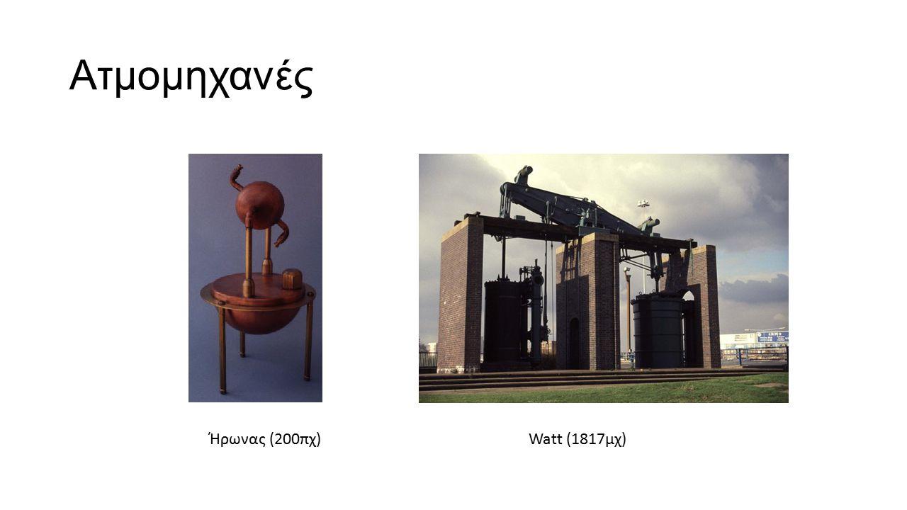 Ατμομηχανές Ήρωνας (200πχ) Watt (1817μχ)
