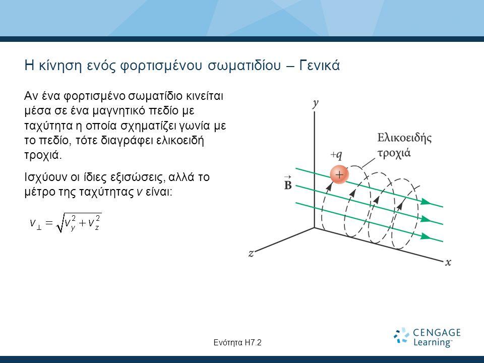Η κίνηση ενός φορτισμένου σωματιδίου – Γενικά