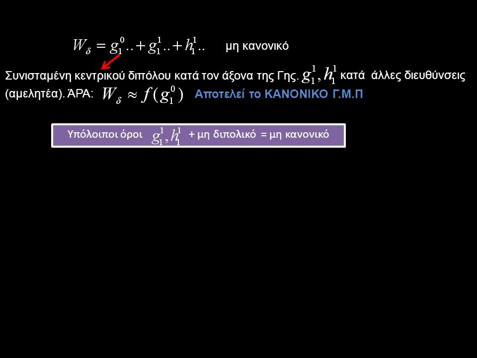 Υπόλοιποι όροι + μη διπολικό = μη κανονικό