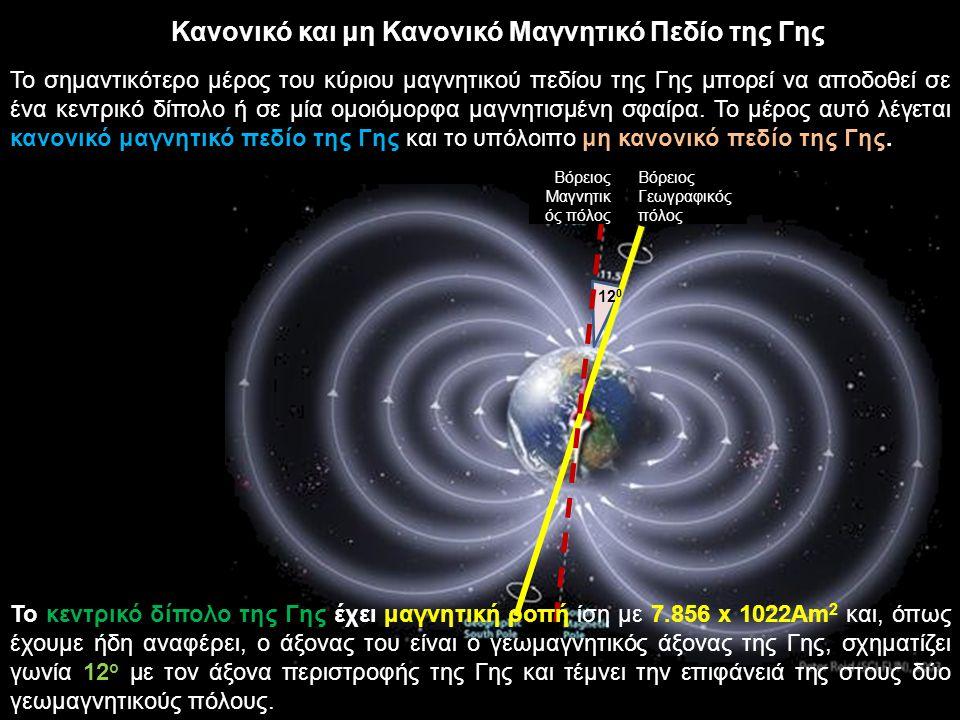 Κανονικό και μη Κανονικό Μαγνητικό Πεδίο της Γης