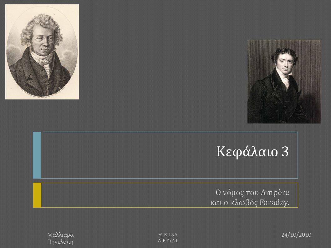 Ο νόμος του Ampère και ο κλωβός Faraday.