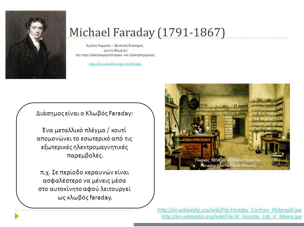 Michael Faraday (1791-1867) Διάσημος είναι ο Κλωβός Faraday: