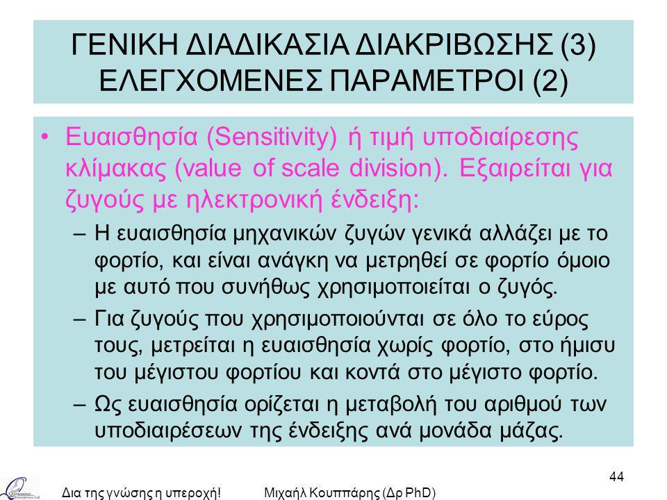 ΓΕΝΙΚΗ ΔΙΑΔΙΚΑΣΙΑ ΔΙΑΚΡΙΒΩΣΗΣ (3) ΕΛΕΓΧΟΜΕΝΕΣ ΠΑΡΑΜΕΤΡΟΙ (2)