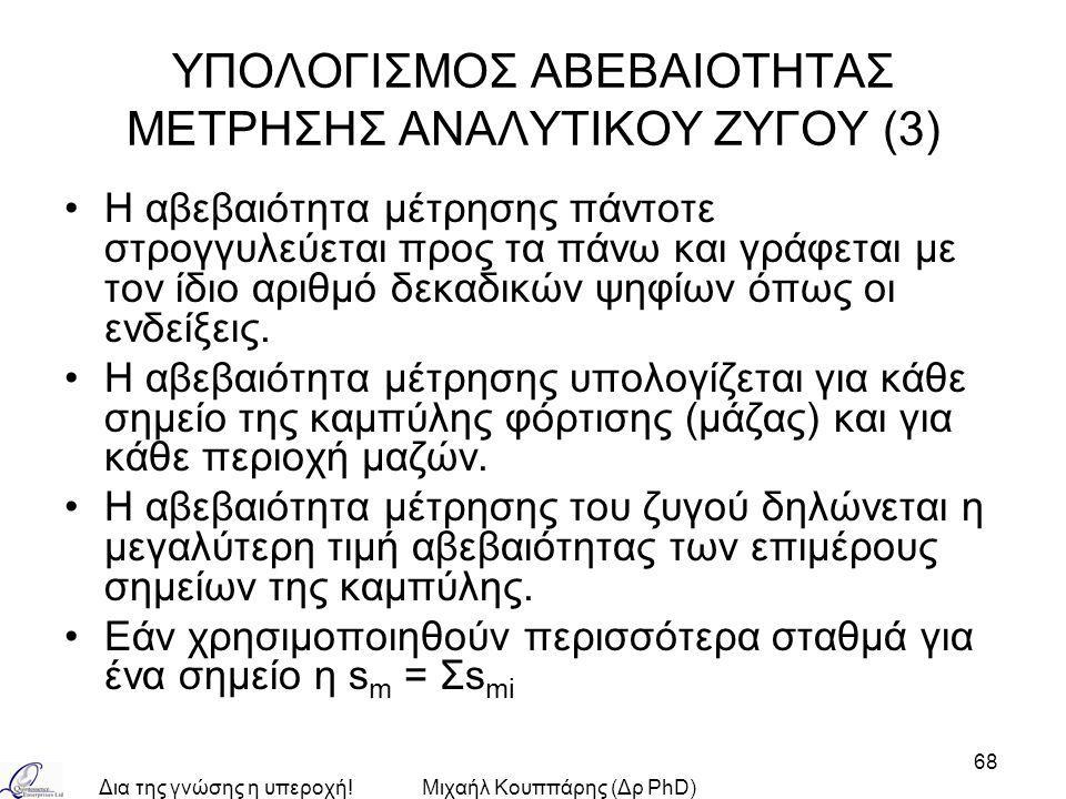 ΥΠΟΛΟΓΙΣΜΟΣ ΑΒΕΒΑΙΟΤΗΤΑΣ ΜΕΤΡΗΣΗΣ ΑΝΑΛΥΤΙΚΟΥ ΖΥΓΟΥ (3)