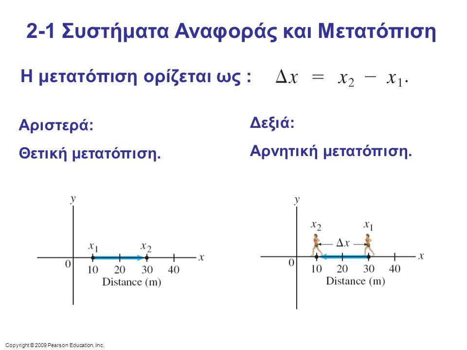 2-1 Συστήματα Αναφοράς και Μετατόπιση