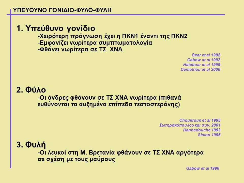 Υπεύθυνο γονίδιο 2. Φύλο 3. Φυλή ΥΠΕΥΘΥΝΟ ΓΟΝΙΔΙΟ-ΦΥΛΟ-ΦΥΛΗ