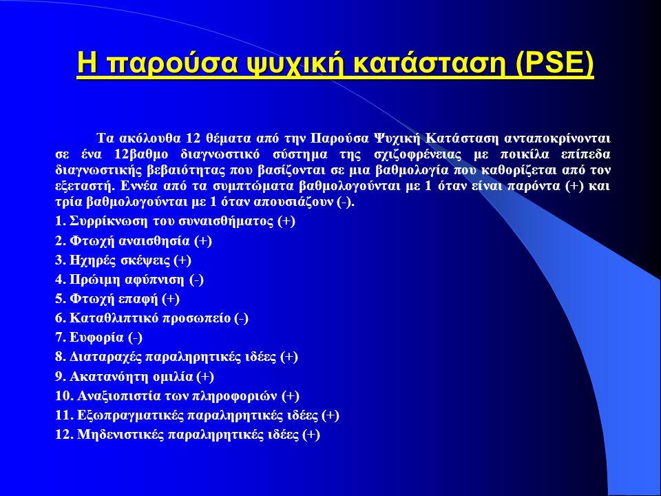Η παρούσα ψυχική κατάσταση (PSE)