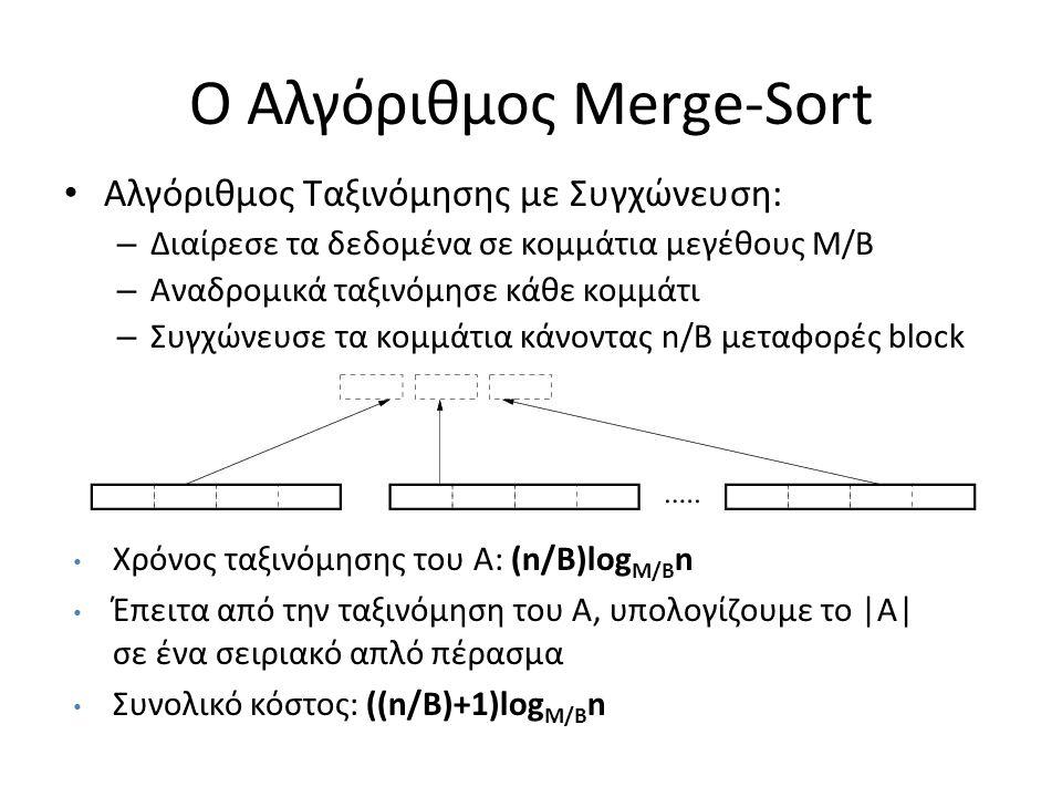 Ο Αλγόριθμος Merge-Sort