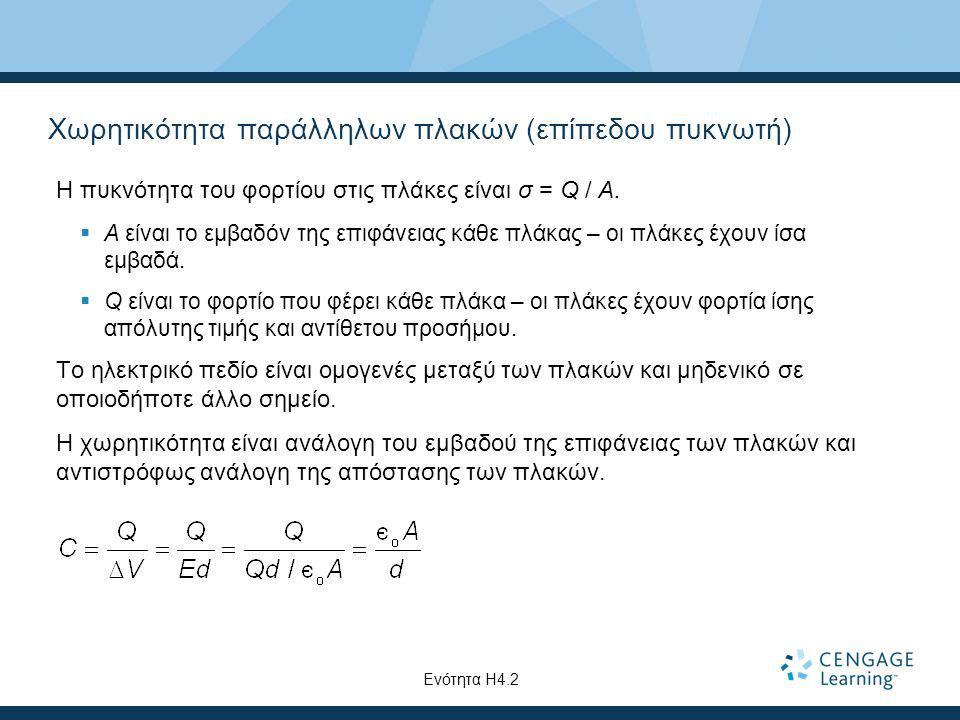 Χωρητικότητα παράλληλων πλακών (επίπεδου πυκνωτή)