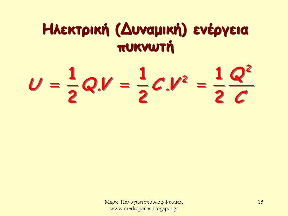 Ηλεκτρική (Δυναμική) ενέργεια πυκνωτή