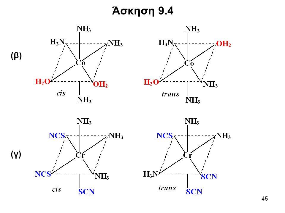 Άσκηση 9.4 (β) (γ)