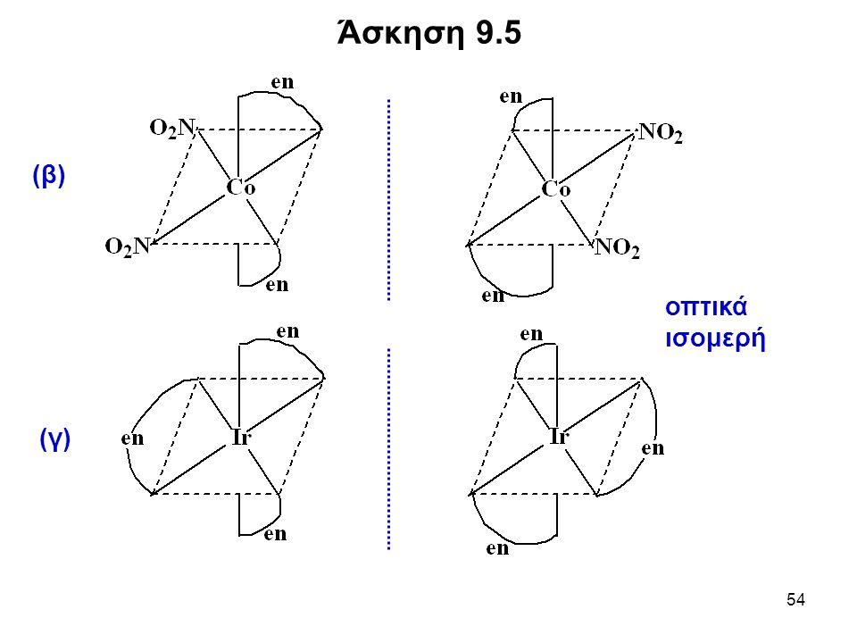 Άσκηση 9.5 (β) (γ) οπτικά ισομερή