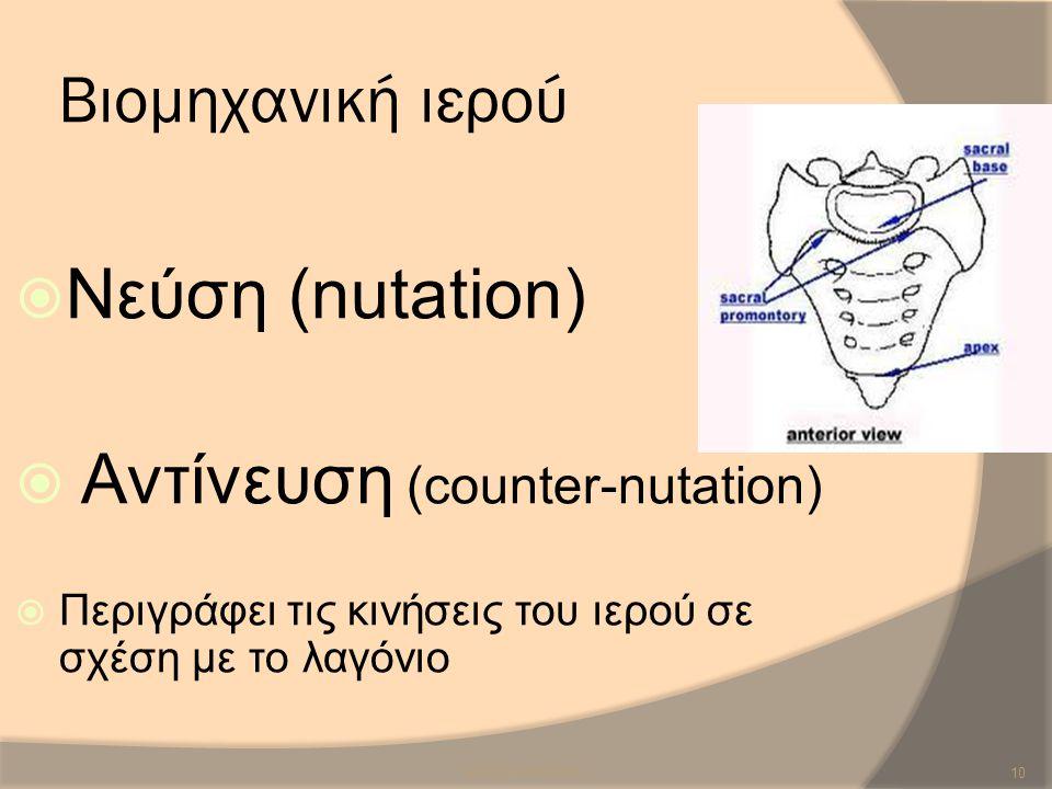 Αντίνευση (counter-nutation)