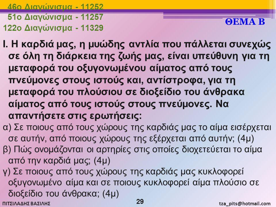 46o Διαγώνισμα - 11252 51o Διαγώνισμα - 11257. ΘΕΜΑ Β. 122o Διαγώνισμα - 11329.