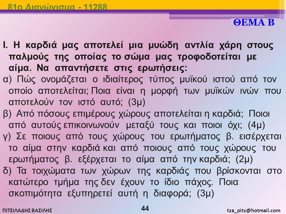 81o Διαγώνισμα - 11288 ΘΕΜΑ Β.