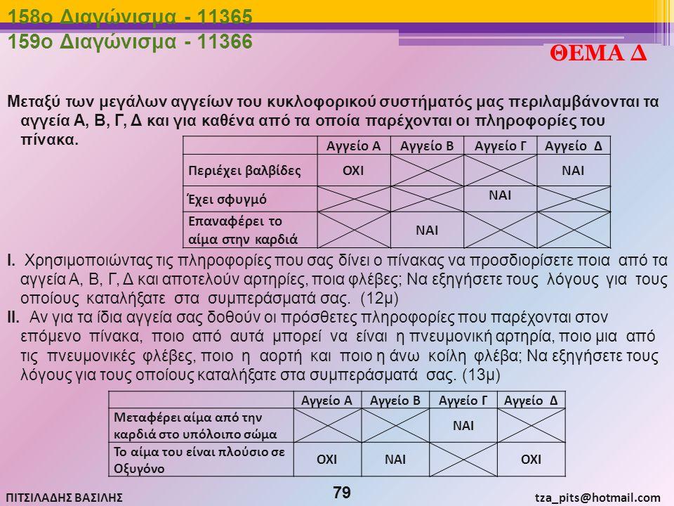 ΘΕΜΑ Δ 158o Διαγώνισμα - 11365 159o Διαγώνισμα - 11366