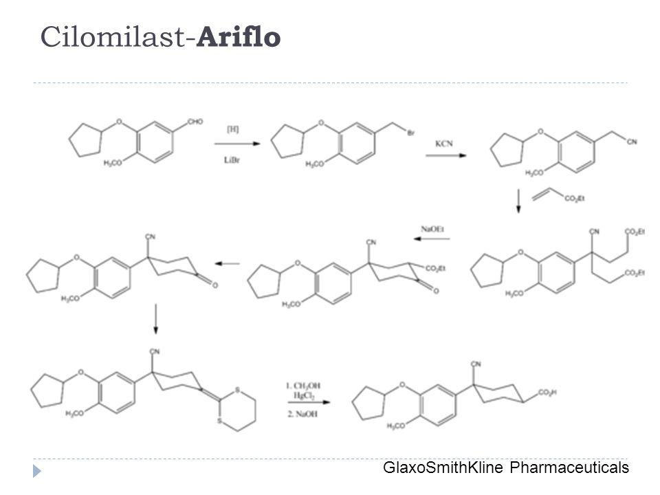 Cilomilast-Ariflo GlaxoSmithKline Pharmaceuticals