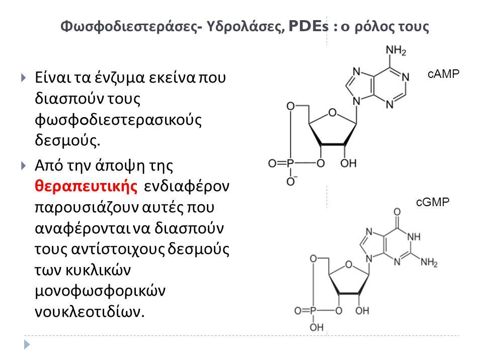 Φωσφοδιεστεράσες- Υδρολάσες, PDEs : o ρόλος τους