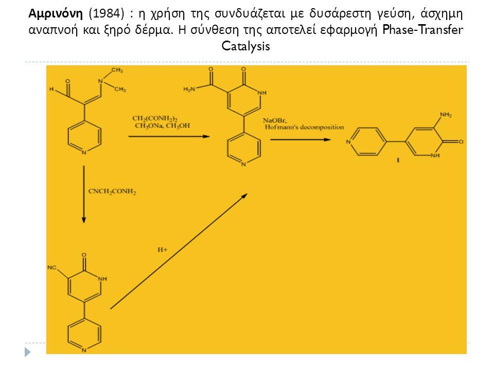 Αμρινόνη (1984) : η χρήση της συνδυάζεται με δυσάρεστη γεύση, άσχημη αναπνοή και ξηρό δέρμα.