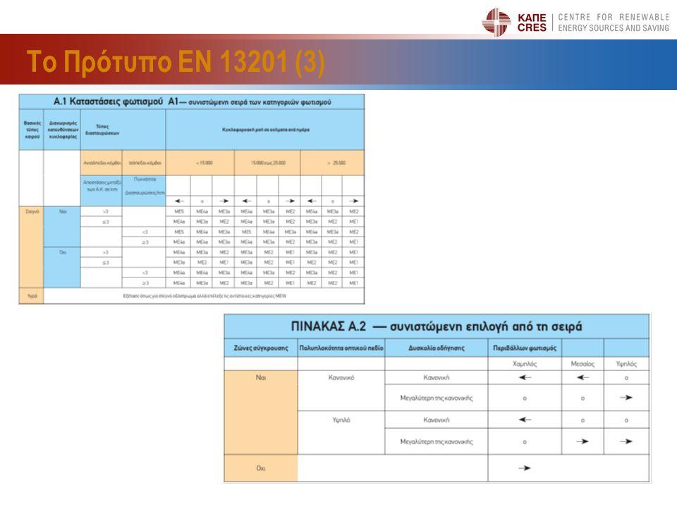 Το Πρότυπο ΕΝ 13201 (3) 11