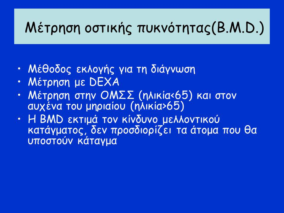Μέτρηση οστικής πυκνότητας(Β.Μ.D.)