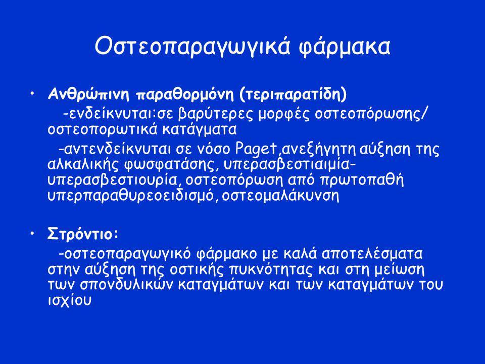 Οστεοπαραγωγικά φάρμακα