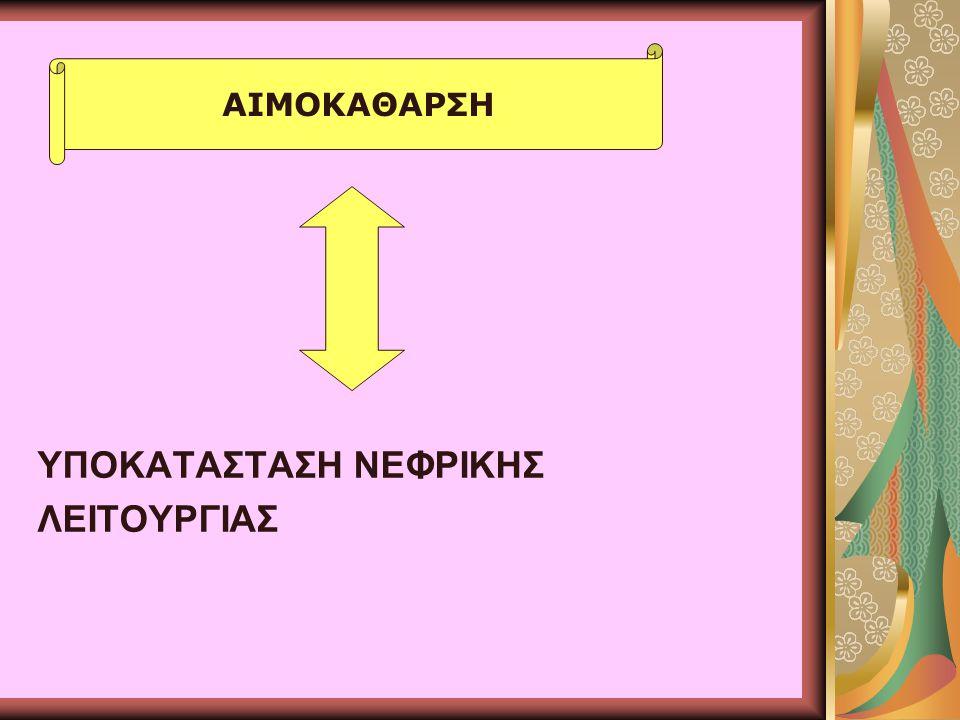ΥΠΟΚΑΤΑΣΤΑΣΗ ΝΕΦΡΙΚΗΣ ΛΕΙΤΟΥΡΓΙΑΣ
