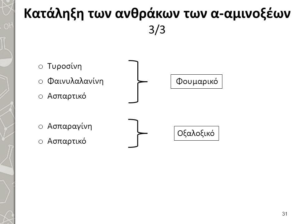 Βιοσύνθεση των μη απαραίτητων α-αμινοξέων 1/2