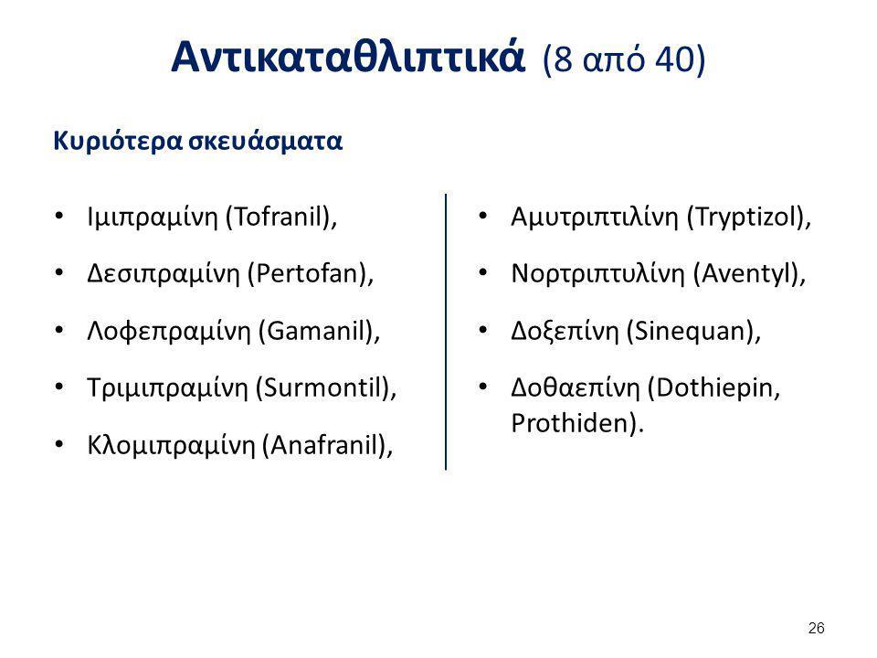 Αντικαταθλιπτικά (9 από 40)