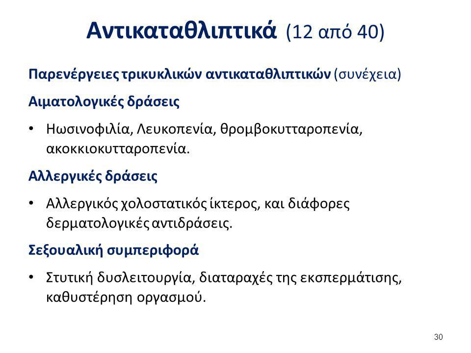Αντικαταθλιπτικά (13 από 40)