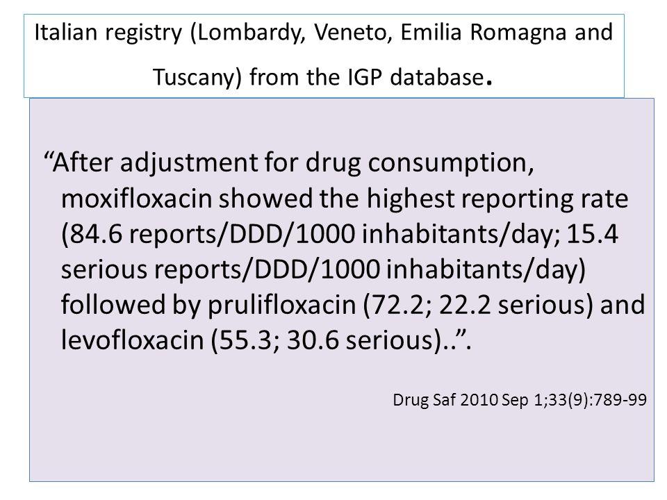 Italian registry (Lombardy, Veneto, Emilia Romagna and Tuscany) from the IGP database.