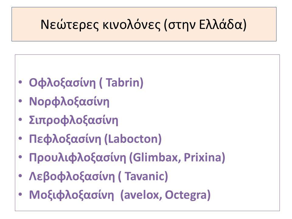 Νεώτερες κινολόνες (στην Ελλάδα)