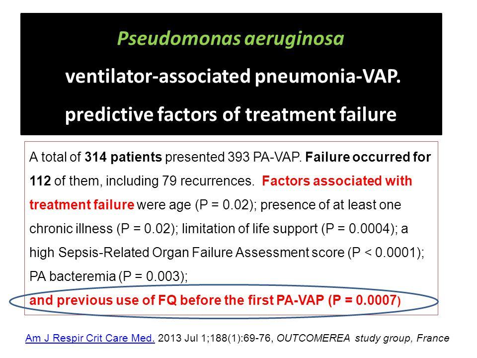 Pseudomonas aeruginosa ventilator-associated pneumonia-VAP.